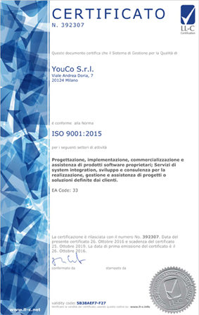 CERTIFICATO N. 392307