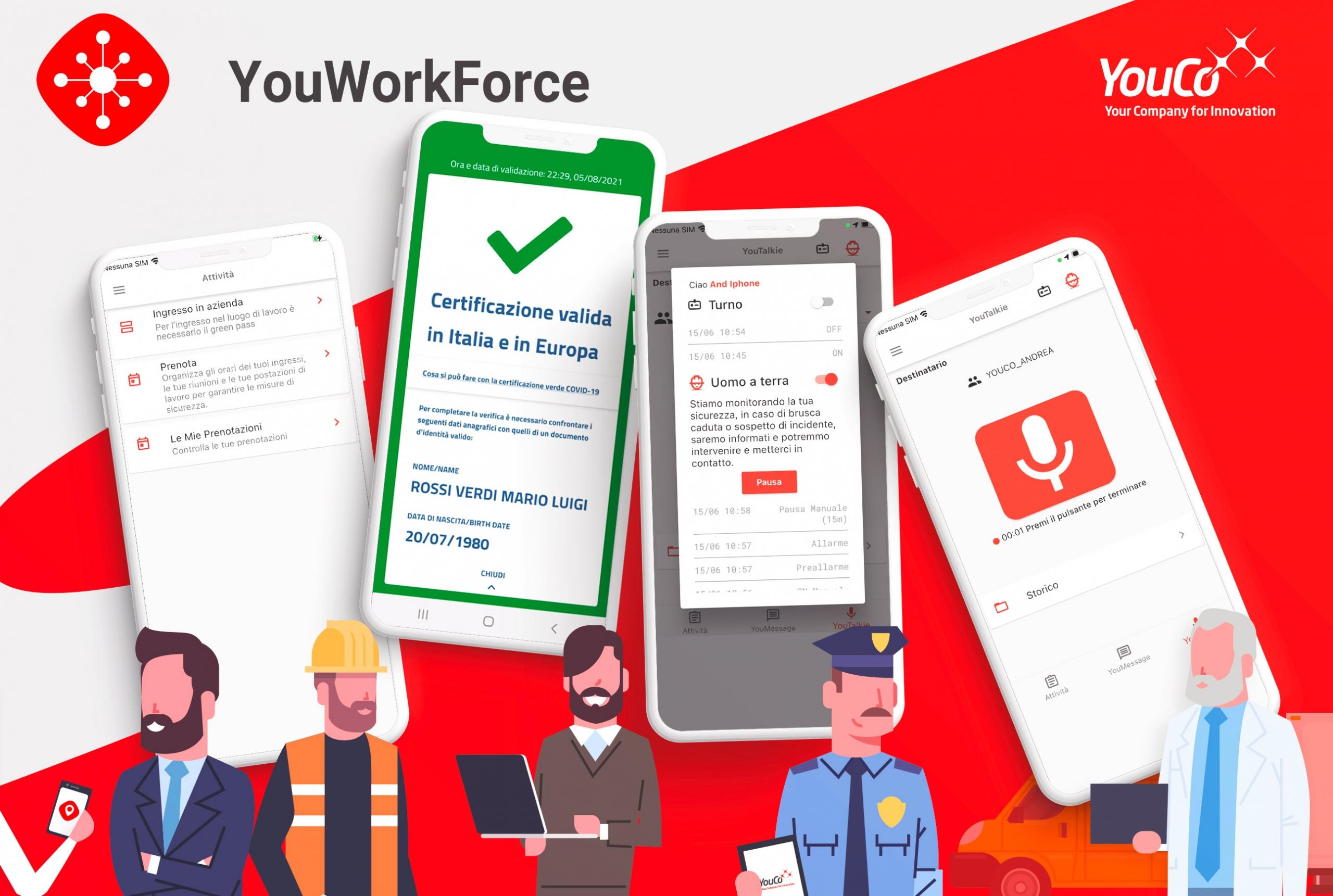YouWorkForce- modulo Green Pass